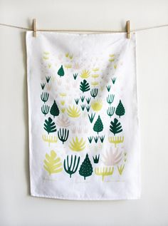 """Illustrations You'll Love to Gift or Get : """"Agave Shapes"""" tea towel by leahduncan on Etsy."""