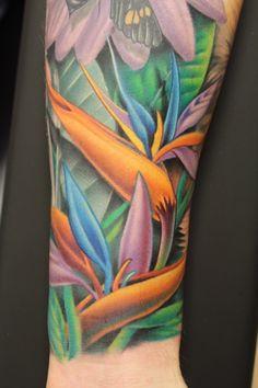 bird of paradise tattoo pics | ... scene, the bird of paradise flower makes an eye catching tattoo design