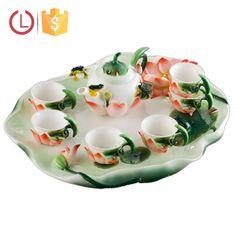Chinese Porcelain enamel frog lotus shape tea set for home, View chinese porcelain tea set, YOU LAI FU Product Details from Shenzhen Youlaifu Household Company Limted on Alibaba.com