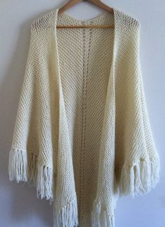 FREE SHIPPING This hand knit shawl is made with by LUCKYKNITTER35