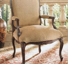 Greta Chair from the Henredon Upholstery collection by Henredon Furniture