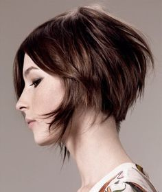 Creative asymmetrical bob