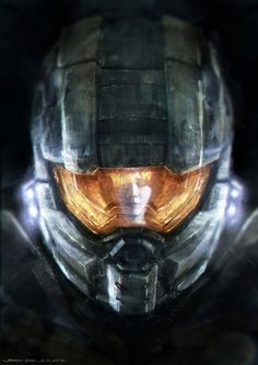 In celebration of the new Halo 4 being released, Kuala Lumpur, Malaysia artist and Halo fan Johnson Ting has created an excellent fan art illustration of the iconic Master Chief and his artificially intelligent sidekick Cortana. Halo 3, New Halo, Halo Game, Master Chief And Cortana, Halo Master Chief, Starcraft, John 117, Science Fiction, Halo Reach