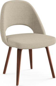 Saarinen Executive Armless Chair with Wooden Legs by Knoll