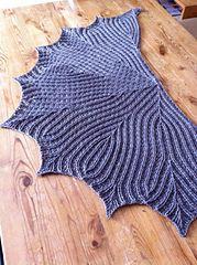 Free Crochet Pattern: Leaflines Shawlette by Aparna Rolfe
