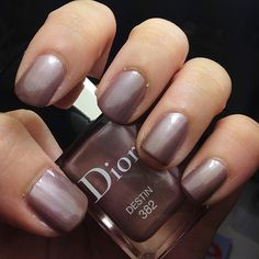 One of the offerings from Dior's Fall Makeup collection is this pinky nude polish with a silvery metallic sheen - Destin. (Sophia's blog)