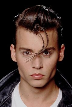 Johnny Depp in Cry Baby On arm as a realistic portrait