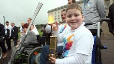 Proudly parading the Paralympic Flame