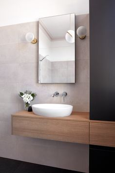 Before you make any option think what you need to save in the cabinet, Due to the fact that Bathroom cabinets are adjusted with many storage feature choices, what you will save in your restroom cabinets. Bathroom Renos, Bathroom Flooring, Bathroom Faucets, Bathroom Wall, Bathroom Renovations, Bad Inspiration, Bathroom Inspiration, Modern Bathroom Design, Bathroom Interior Design