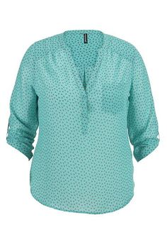 patterned chiffon plus size blouse with pocket (original price, $34) available at #Maurices