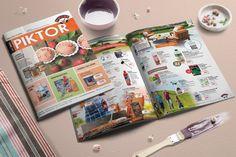 Piktor újság szerkesztése - Arculattervezés, kreatív grafika, webdesign, könyv tördelés, DTP,