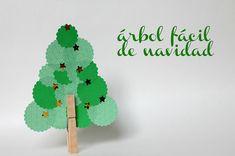 Un árbol de #Navidad facilón para hacer con niños #manualidades