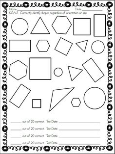 This is a color and shape assessment that can be used with