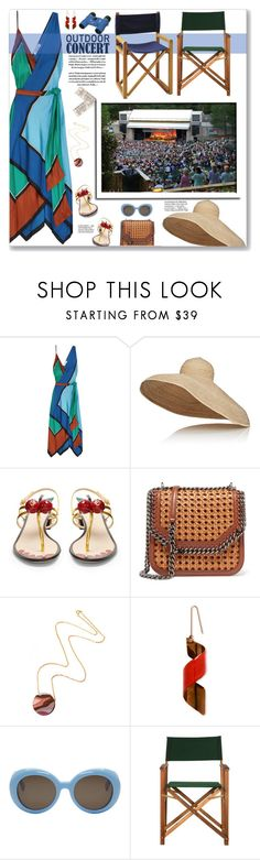 """""""An evening at Chastain Park"""" by fassionista ❤ liked on Polyvore featuring Diane Von Furstenberg, Lola, Gucci, STELLA McCARTNEY, Wolf & Moon, Gentle Monster, Home Decorators Collection, Serena & Lily, outdoorconcert and summer2017"""