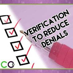 Medical Insurance Billing - 20 Verify to Reduce Denials. Insurance eligibility verification is an important function of the medical billing cycle.