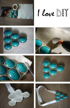 This is the tutorial to recycle your bracelet into a necklace !