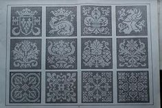 filet crochet antique pattern. Can be used for cross-stitch - free