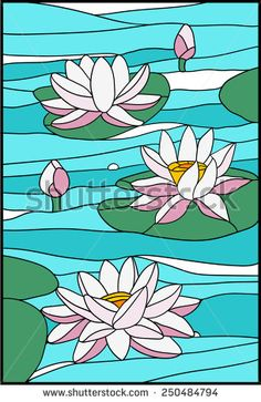 Find Water Lily Composition Stained Glass Window stock images in HD and millions of other royalty-free stock photos, illustrations and vectors in the Shutterstock collection. Stained Glass Patterns Free, Stained Glass Quilt, Stained Glass Flowers, Stained Glass Crafts, Faux Stained Glass, Stained Glass Designs, Stained Glass Panels, Mosaic Art, Mosaic Glass