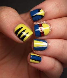 Wolverine Inspired Nails via The Nailasaurus - Superheroes Challenge.