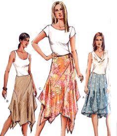 Pretty Handkerchief Hem Skirt Pattern Size 6-10 by WearingHistory