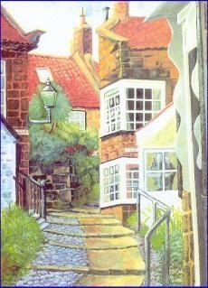 Robin Hood's bay, My paintings, Olive White, SAA Professional Members' Galleries