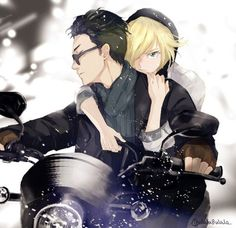 Imagen de yuri on ice, anime, and otabek altin