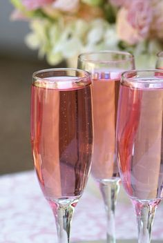 Pink champagne, like in 50 Shades of Grey ;)