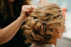 Gorgeous bridal hair soft up do the wedding day. Photo by Feather + North and Erin Northcutt. Wedding Planning by Bella Baxter Events