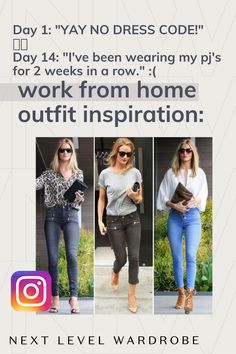 Work from Home Outfit Ideas - Remember, even though your working from home- that you can still feel comfortable while NOT wearing your PJ's or old college sweats! About About: entrepreneur style, work from home outfits, work from home style, and business casual outfits.
