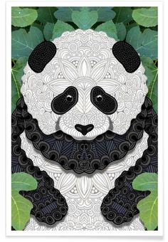 Panda Bear als Premium Poster von Angelika Parker | JUNIQE