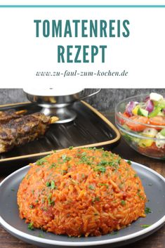 Tomato Rice, Food Inspiration, Veggies, Food And Drink, Vegetarian, Tasty, Lunch, Stuffed Peppers, Healthy Recipes