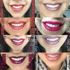 FUN #lipsense Color Comparisons!! #bbloggers #lipstick #makeup #senegence #selfie #lips - ashliplove