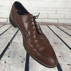 Cole Haan Mens C11029 Size 10.5 Brown Leather Loafer Oxford Shoes #ColeHaan #Oxfords