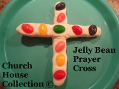 Jelly Bean Prayer Cross- made from salt dough and jelly beans!!!!! Perfect for Easter time!!