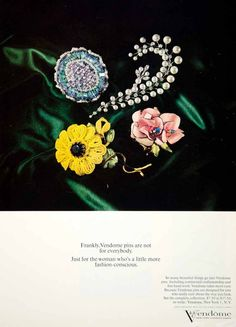 Vintage vendome Jewelry Ads - Yahoo Image Search Results