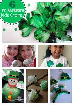 St. Patrick's Day craft ideas. Get ready to celebrate green with these fun crafts #craft #green #shamrock skiptomylou.org