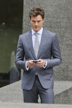 Jamie Dornan Grey Suit