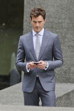 Jamie Dornan Grey Suit
