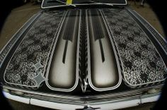 lace paint -ℛℰ℘i ℕnℰD by Averson Automotive Group LLC Lace Painting, Air Brush Painting, Custom Paint Jobs, Custom Cars, Cadillac, Candy Paint, Pinstriping Designs, Helmet Paint, Truck Paint