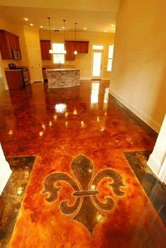 fleur de lis stained concrete - Avast Yahoo Search Results