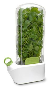 Keep your herbs fresh. Cut your herb plant, put it in, put some water in the bottom and then put it all in the fridge