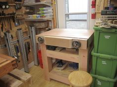 Roubo inspired Joinery Workbench with Moxon Vise