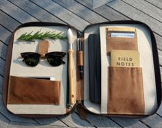 LEATHER TRAVEL WALLET medium iPad Mini Kindle folio by HOUSEofLH