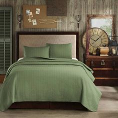 #Woolrich Velvet Touch Coverlet Set - Basil buy  this luxurious #bedding at Lights in the Northern Sky www.lightsinthenorthernsky.com