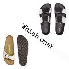Which one? Schlappen für den Sommer.