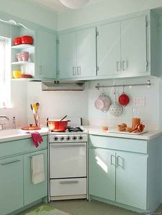 Add a pop of color! | 31 Tiny House Hacks To Maximize Your Space