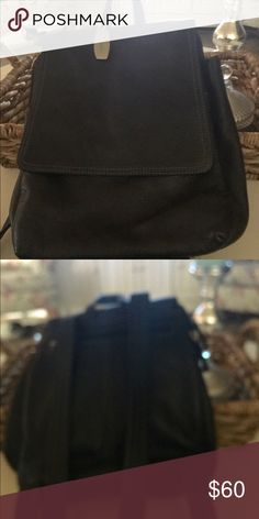Backpack purse Black leather medium size backpack/purse.  Never used. Tignanello Bags Backpacks
