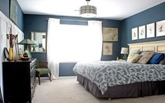 like the color of the bed skirt and the photos over the bed.  Also like the bedspread as an idea to make a duvet cover for mine.