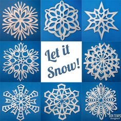 How to fold and cut great snowflakes!