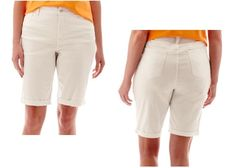 St John's Bay womens plus bermuda shorts secretly slender size 18W, 20W NEW  16.99 http://www.ebay.com/itm/St-Johns-Bay-womens-plus-bermuda-shorts-secretly-slender-size-16W-18W-20W-NEW-/262071528422?